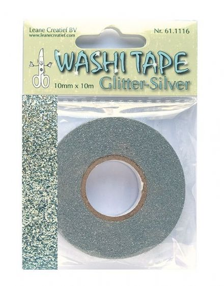 61.1116 ~ WASHI TAPE - SILVER  ~  by Leane Creatief Dies